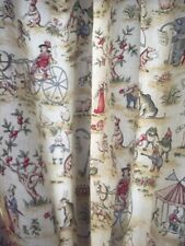 2 Pc Children's Curtain Farm Animals Colonial Ducks Rooster Boy Girl Room 96""