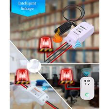 16A White TH16 Sonoff WiFi Smart Switch Temperature Humidity Sensor Home Remoter