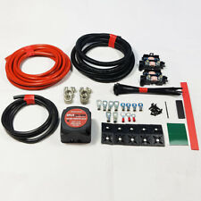 PROFESSIONAL SPLIT CHARGE KIT 4MTR 12V 140A AMP RELAY 110AMP CABLE HEAVY DUTY