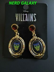DISNEY Villains Snow White Evil Queen MAGIC MIRROR Earrings Set NEW! LICENSED!
