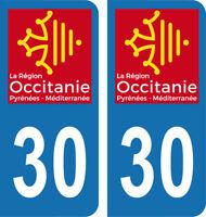 Armoiries blasonimmat 2 Autocollants Plaque immatriculation Auto 82 Occitanie
