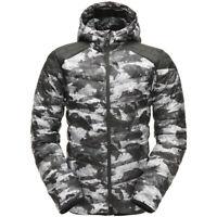 Spyder Men's Geared Hoody Synthetic Down Jacket Camo Distress Print/Black/Black