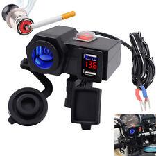 12V USB Ladegerät LED Motorrad Lenker Zigarettenanzünder Voltmeter Wasserdicht