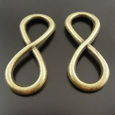 **8pcs Antique Style Bronze Alloy Infinity Charms Pendant Jewelry Making 31x13mm