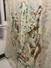 TRex Floral Shower Curtain, New, 72X84