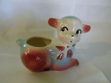 Vtg Pottery Lamb Planter