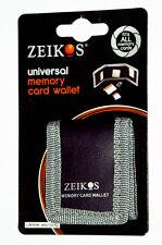 Zeikos Electronics ZE-MC3A Memory Card Case Wallet Black Fabric Holds 3 Cards