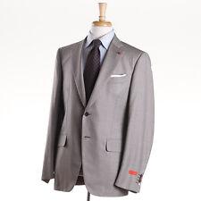 NWT $3795 ISAIA NAPOLI Birdseye Super 140s Wool Suit 44 R (Eu 54) 'Base Gregory'