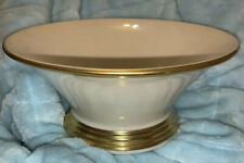 Lenox Eternal Nouveau Dimension Collection Ivory GOLD TRIM Low Server Made In US