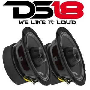 "2) DS18 PRO-ZT6 6.5"" 2 Way Midrange Loud Speaker 900W 4 ohm with Super Tweeter"