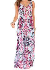 💖 Ladies Together Multi Print Summer Maxi Dress UK Size 8 EUR 34