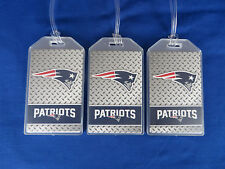 NEW ENGLAND PATRIOTS - FOOTBALL LUGGAGE TAG SET of 3 - SUPER BOWL CHAMPIONS 2017
