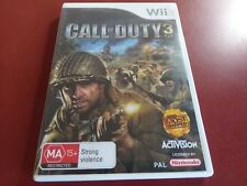 CALL OF DUTY 3 - NINTENDO WII GAME COMPLETE - FREE POST- OZ SELLER