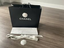 Large Chanel Gift Bag With Ribbon/ Flower And Paper