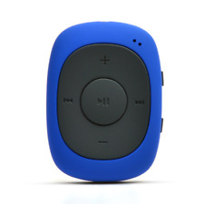 8gb Mini Clip Mp3 Player With FM Radio for Jogging Running Gym Blue