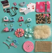 35 Piece Set Handmade Accessories For Littlest Pet Shop Skirt Bow Collars Laptop