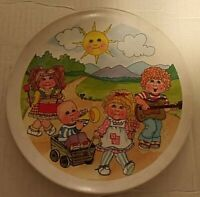 Vintage Cabbage Patch Kids  Plastic Plate 1985 OAA Inc. Dinnerware
