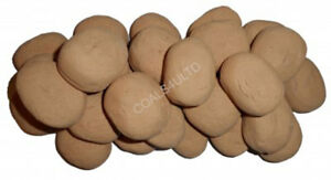 10 BEIGE GAS FIRE REPLACEMENT PEBBLES COALS STONES 60MM LIVING FLAME MADE IN UK