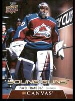 2020-21 UD Series 1 Canvas Young Guns #C96 Pavel Francouz RC