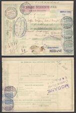 STORIA POSTALE REGNO 1925 Pacchi Postali 2,50L da Gropello C. per Francia (E7)