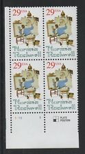 ALLY'S STAMPS US Plate Block Scott #2839 29c Norman Rockwell [4] MNH LL