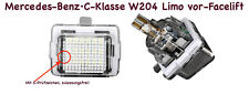2x Top LED SMD Number Plate Lighting For Mercedes-Benz·C-Class W204 Soda (412)