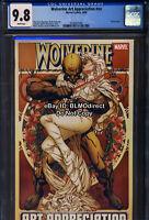 CGC 9.8 2009 Wolverine Art Appreciation Quesada Canvas Cover Marvel Comics