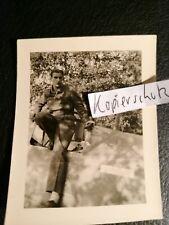 Foto Luftwaffe  jg51 Jagdflieger ass Ralf Furch me109