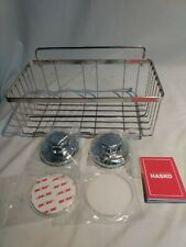 Hasko Accessories Polished Stainless Steel Shower Caddy with Suction Cups