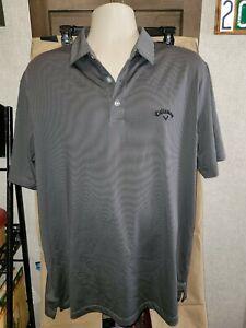 CALLAWAY SZ L Golf Performance Opti-Dri Polo Shirt Mens gray MiNT ⛳