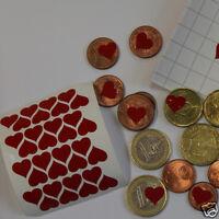 90 Stickers Ptit'coeur 1cm  à coller partout ! 90 cœurs adhésifs 1cm