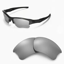 WL Polarized Titanium Replacement Lenses For Oakley Flak Jacket XLJ Sunglasses
