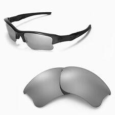 WL Polarized Titanium Replacement Lenses For Oakley Flak Jacket XLJ Sunglasses