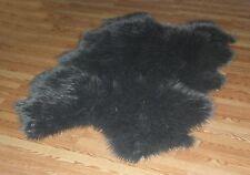 GREY GREY Faux fur Sheepskin QUATRO Pelt rug 4' x 6'