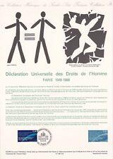Document philatélique 43-88 1er jour 1988 Déclaration des droits de l'homme