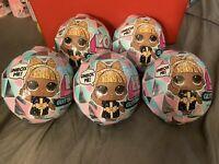 5 LOL Surprise Winter Disco Series Glitter Globe Doll FREE SHIPPING LOT OF 5...