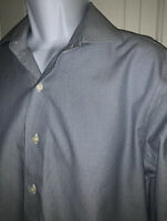 Brooks Brothers Size 15.5 33 REGENT Non Iron Dress Shirt Blue Supima Cotton EUC