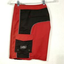 AFTCO Mens Shorts 30 X 8 Fish Swim Knife Pocket Zip Fly  Unlined Red Trunks