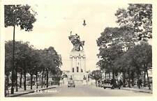 SAO PAULO, BRAZIL, STREET & RAMOS DE AZEVEDO MONUMENT, REAL PHOTO PC ~ c. 1930s