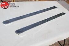 68-72 Chevy Chevelle GM A Body Door Sill Step Up Rocker Kick Trim Plates Ribbed