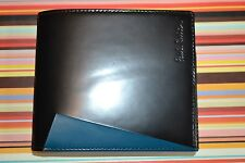 Paul Smith PS BLACK & BLUE Colourflash Coin Pouch Wallet New