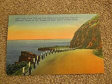 Vintage Postcard of Lake Shore Drive Along Lake Superior in Minnesota