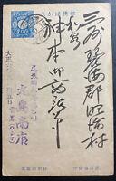 1930s Japan Postal Stationery Postcard Blue Cover 1 Sen B