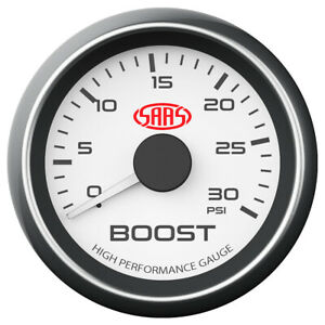 """SAAS boost gauge 2"""" white 0-30psi for Holden Colorado 7 RG LWH 2.8 DI"""