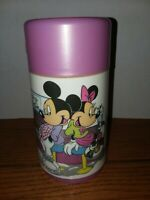 Vintage Mickey And Minnie Lunchbox Thermos Only  Diner WALT DISNEY MICKEY MOUSE