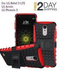LG Rebel 3 LTE LG Aristo Case Rugged Dual Layer Protective w/ Kickstand Cover