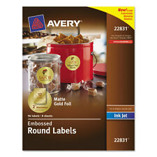 """""""Avery Round Labels, 2"""""""" Dia, Gold Foil, 96/pack"""""""