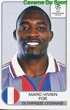 163 MV.FOE CAMEROON OLYMPIQUE LYONNAIS STICKER PANINI CHAMPIONS LEAGUE 2001-2002