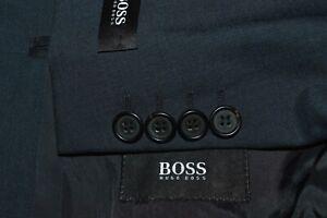 NEW HUGO BOSS Da Vinci Lucca men's blue 2 Piece suit EU 56L US 46L / 38 x 38
