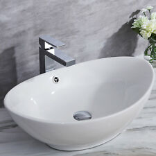 590mm Modern Bathroom Countertop Basin White Ceramic Designer Sink Wash Bowl